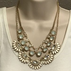 Premier Designs ANGELIC Necklace Gold Pink Rose
